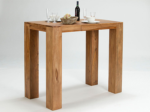 Table de bar teck for Table cuisine teck