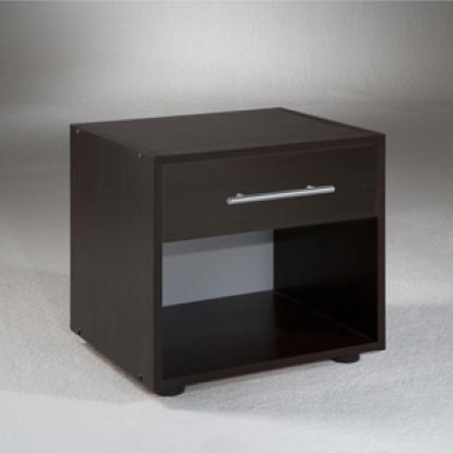 table de chevet marron. Black Bedroom Furniture Sets. Home Design Ideas