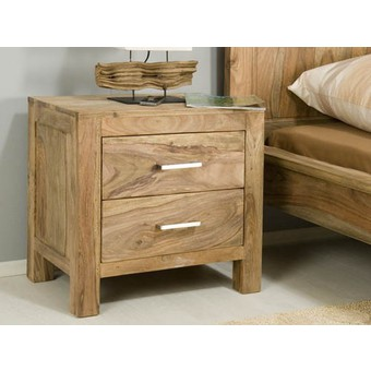 Table de chevet nature for Table de nuit bois