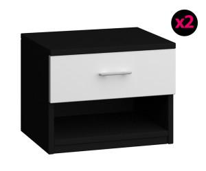table de chevet noir et blanc