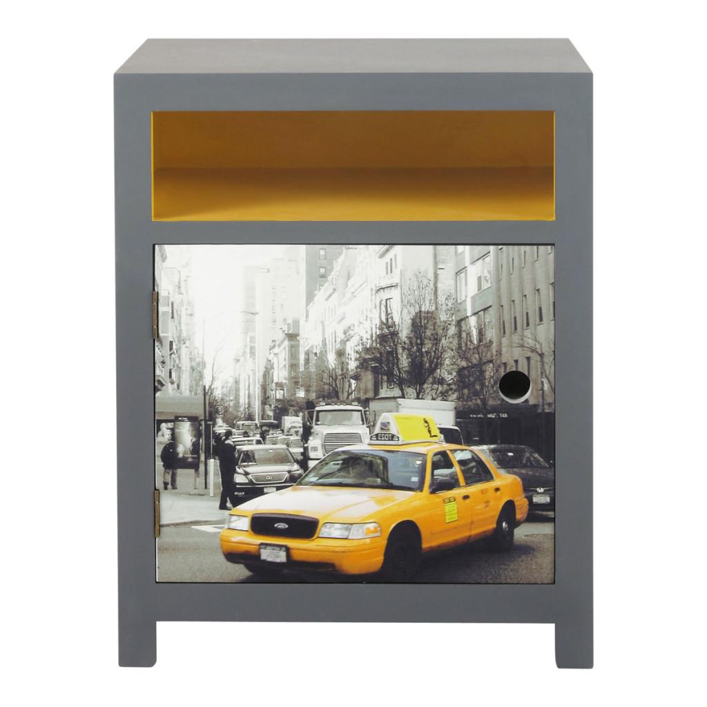 table de chevet style new york. Black Bedroom Furniture Sets. Home Design Ideas