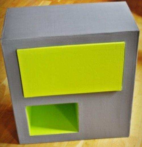 table de chevet vert anis