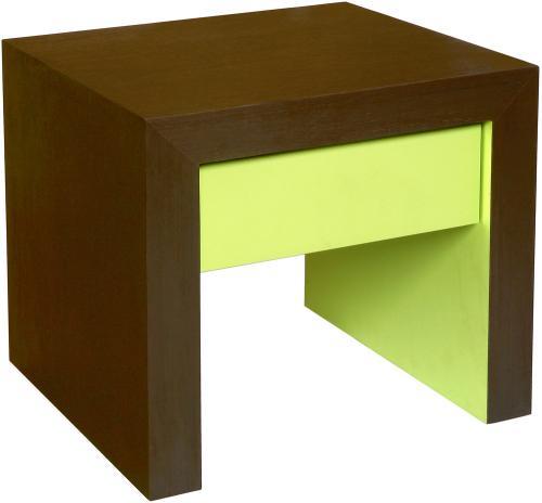 table de chevet verte. Black Bedroom Furniture Sets. Home Design Ideas