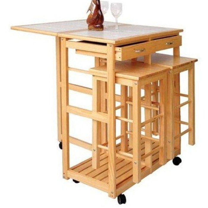 Table desserte de cuisine for Modele de cuisine avec table bar