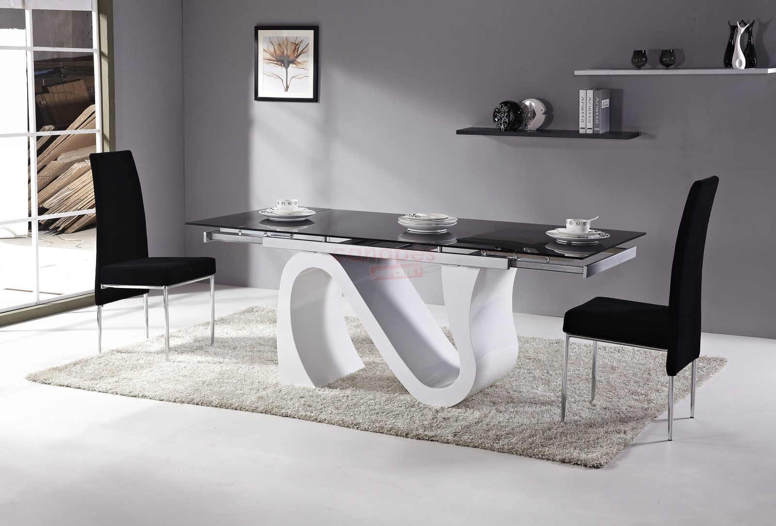 Cdiscount table et chaise salle manger for Table salle manger ronde extensible design
