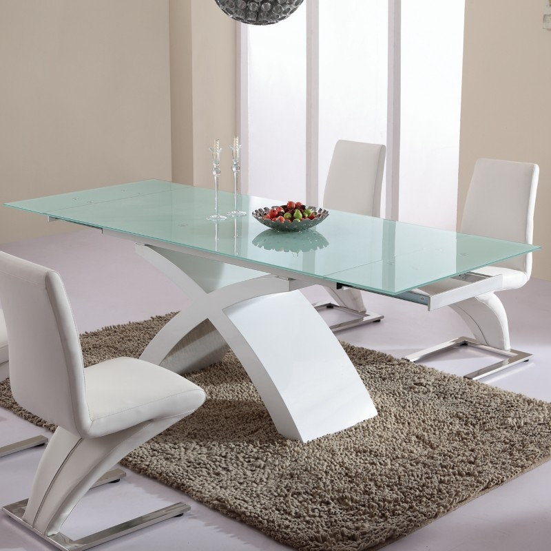 Table salle a manger design xxl - Table salle a manger pied central ...