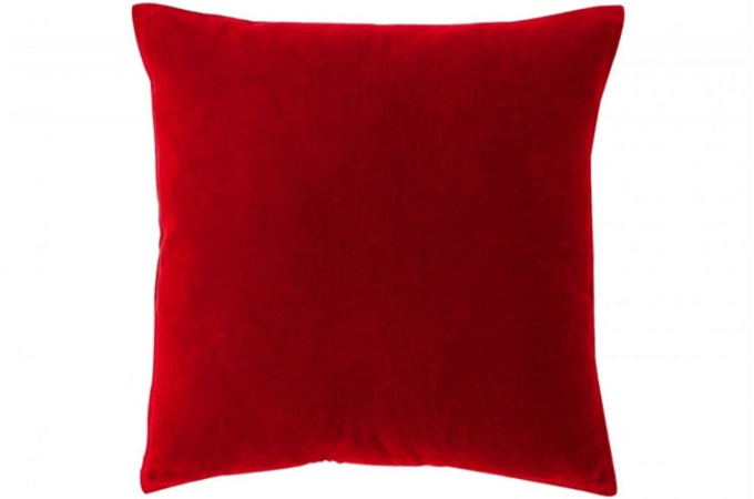 housse coussin velours rouge exemple coussin decoratif rouge housse coussin velours rouge