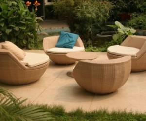 fauteuil boule salon de jardin