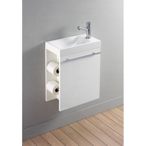 Meuble vasque pour wc for Meuble wc but