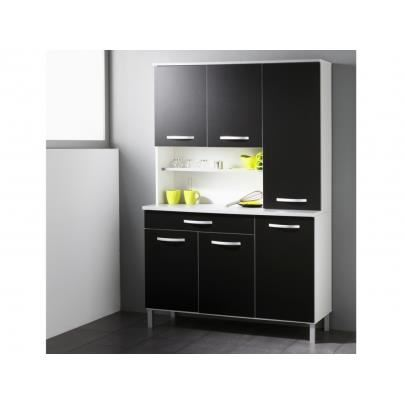 meuble de cuisine noir pas cher conceptions de maison. Black Bedroom Furniture Sets. Home Design Ideas