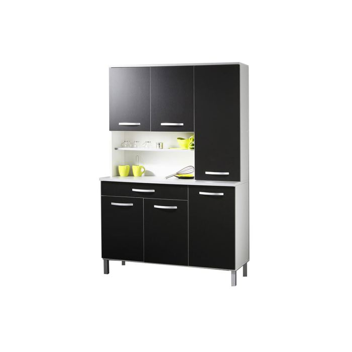 excellent buffet de cuisine cdiscount with meuble cuisine modulable. Black Bedroom Furniture Sets. Home Design Ideas