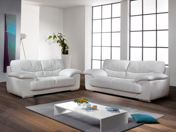 canap cuir blanc. Black Bedroom Furniture Sets. Home Design Ideas