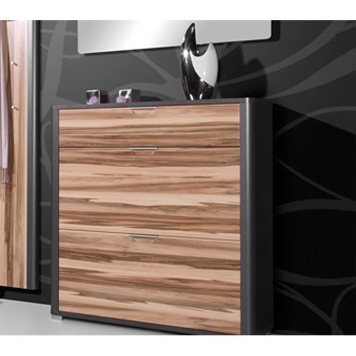 meuble chaussure noyer. Black Bedroom Furniture Sets. Home Design Ideas