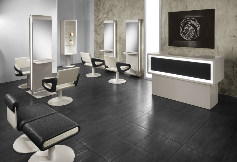 Mobilier salon de coiffure moderne for Salon mobilier