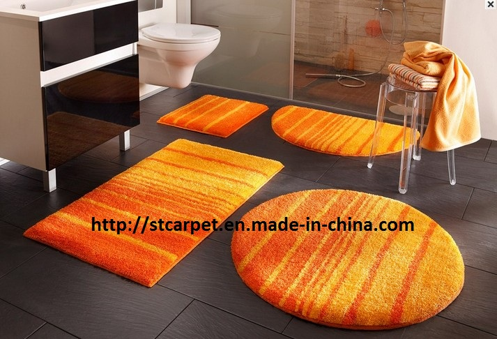 tapis salle de bain orange. Black Bedroom Furniture Sets. Home Design Ideas