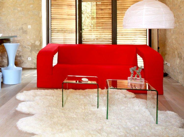 idée tapis salon epais