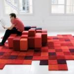 tapis salon geek