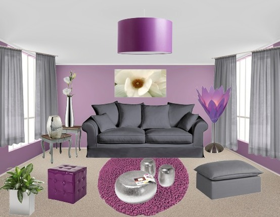 Deco Salon Gris Et Mauve Cool Deco Salon Blanc Beige Gris Salon Violet