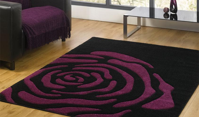 tapis salon mauve