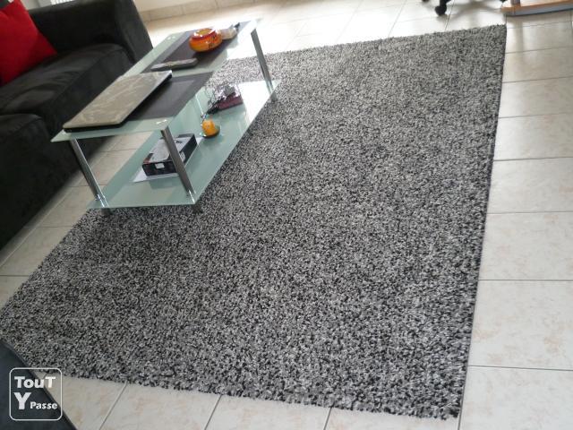 Exemple tapis salon noir et blanc pas cher
