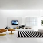 tapis salon noir et blanc pas cher