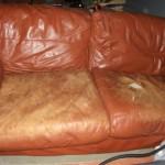 canapé cuir abimé