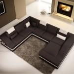 canapé cuir grand angle