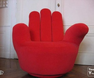 fauteuil forme main