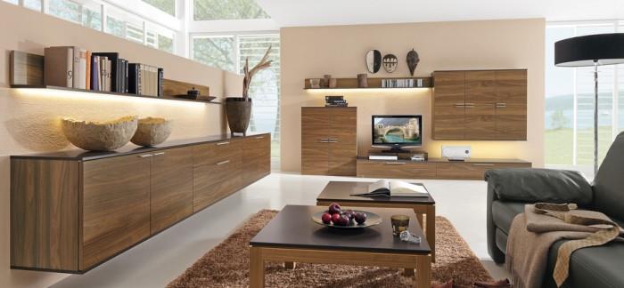 modèle meuble salon bois gris