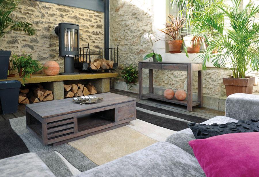 salon bois et noir meuble salon noir et gris blanc violet contemporain en - Salon Gris Et Bois