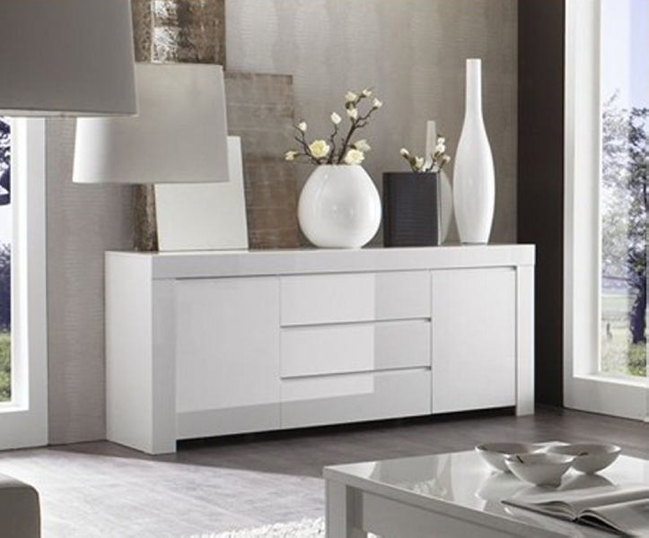meuble salon laqu blanc. Black Bedroom Furniture Sets. Home Design Ideas
