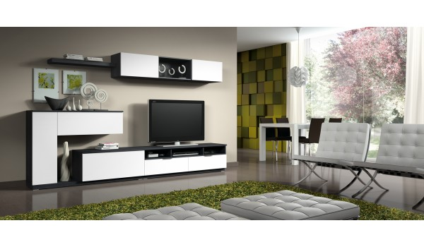 meuble salon tv but. Black Bedroom Furniture Sets. Home Design Ideas