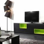 meuble salon vert