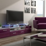 meuble salon violet