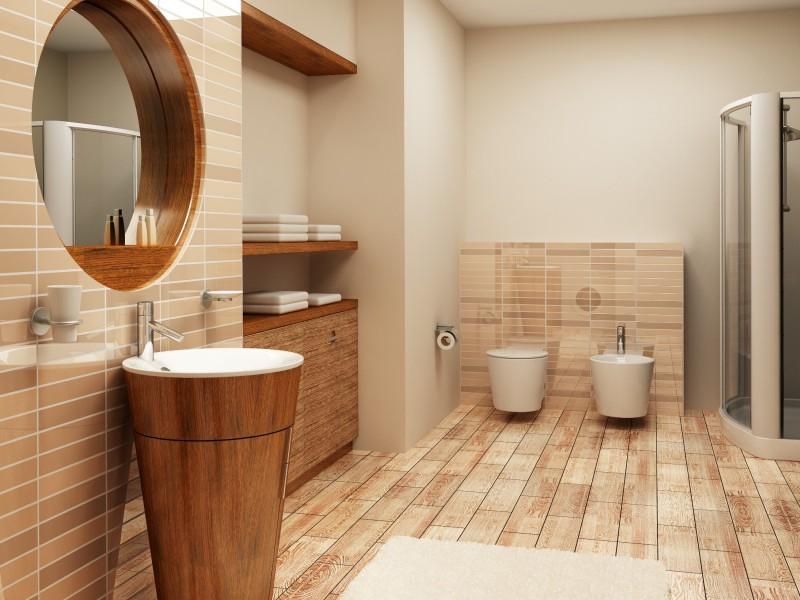 tapis salle de bain imitation galets