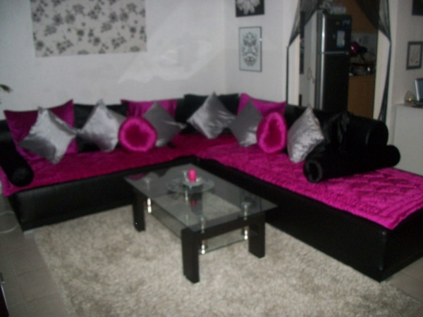 tapis salon rose fushia