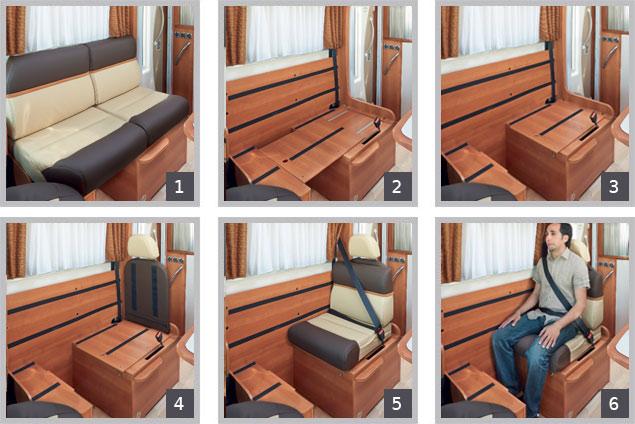 banquette camping car. Black Bedroom Furniture Sets. Home Design Ideas
