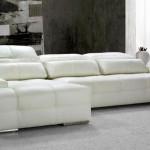 canapé cuir blanc design