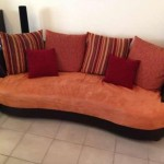 canapé cuir tissu