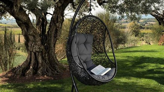 fauteuil suspendu jardin. Black Bedroom Furniture Sets. Home Design Ideas