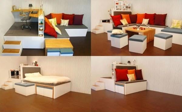 Meuble salon petit espace - Meubler petit salon ...