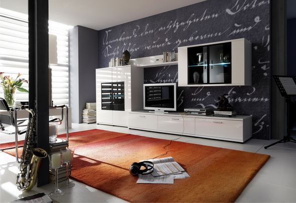 modèle tapis salon contemporain
