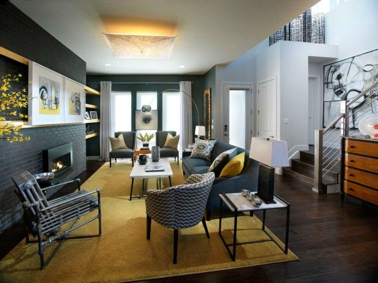 tapis salon jaune orange. Black Bedroom Furniture Sets. Home Design Ideas