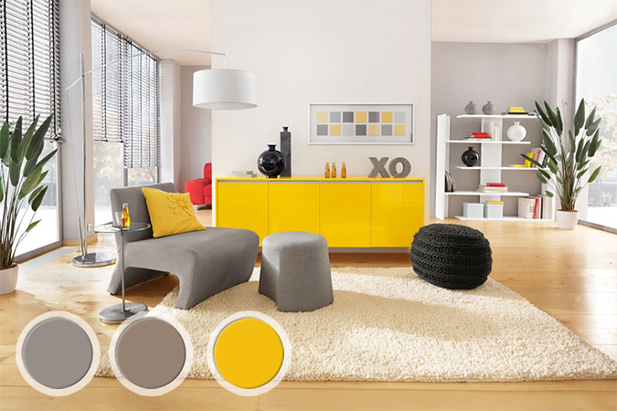 Tapis Salon Jaune Orange