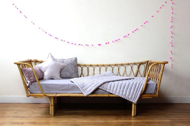 banquette osier rotin. Black Bedroom Furniture Sets. Home Design Ideas