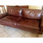 canapé cuir marron clair