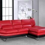 canapé cuir rouge