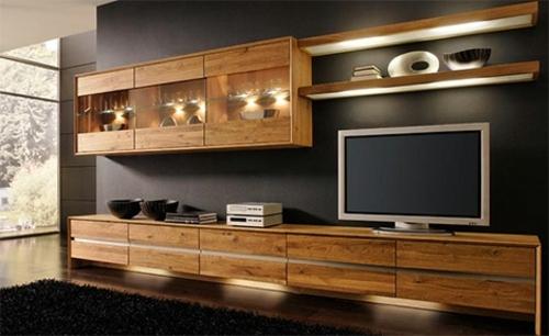 Beautiful Meuble De Salon Moderne En Bois Contemporary - Design ...