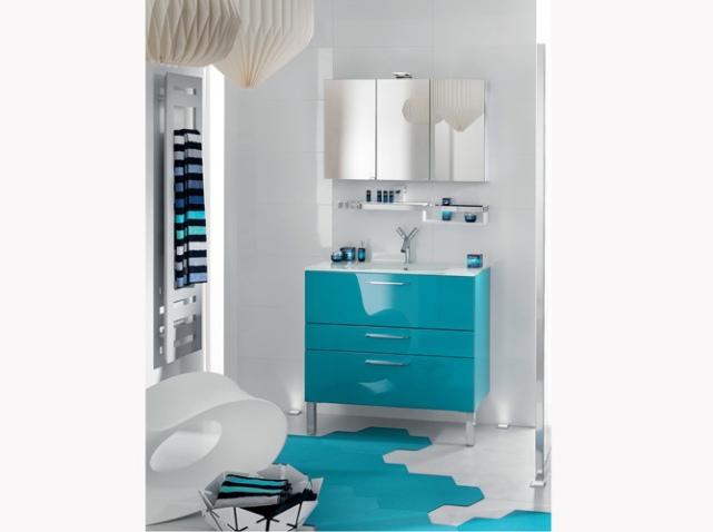 Exemple Tapis Salle De Bain Bleu