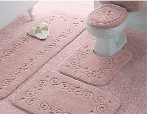 tapis salle de bain toilette. Black Bedroom Furniture Sets. Home Design Ideas